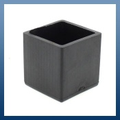SQUARE RUBBER FERRULES FOR TABLE & CHAIR LEGS