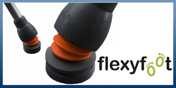FLEXYFOOT FERRULES FOR WALKING STICKS & CRUTCHES