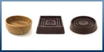 FURNITURE CASTER CUPS FOR WOODEN & LAMINATE FLOORING