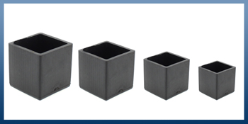 SQUARE SHAPED RUBBER FERRULES FOR FURNITURE LEGS