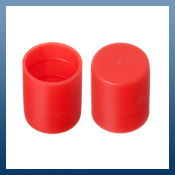 15mm CAP PLUGS FOR PROTECTING COPPER PIPING, TUBING, RODS