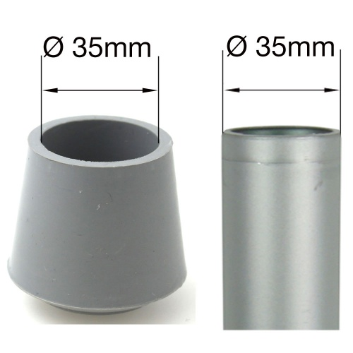 25mm Grey Rubber Ferrules Feet Covers  Bottoms  Tips   End Caps For Tubular 25mm Rubber Feet Covers For Tubular Chair Legs   Floor Protectors. Rubber Chair Foot Covers. Home Design Ideas