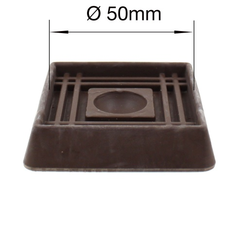 50mm BROWN RUBBER CASTER CUP | PROTECT YOUR WOODEN U0026 LAMINATE FLOORING