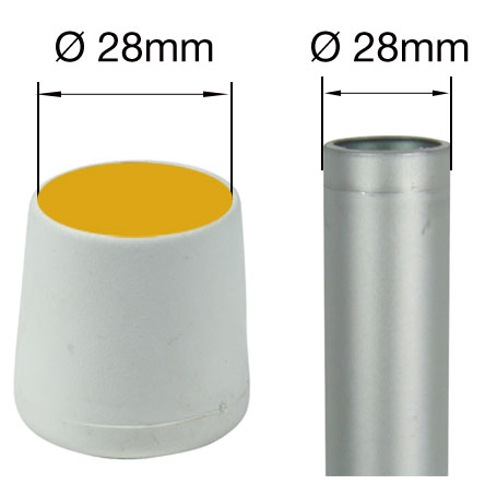 28mm White Ferrules For Floor Protectors Table Amp Chair Legs