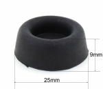 25mm DIAMETER | 9mm HEIGHT | 5mm HOLE | SCREW ON RUBBER BUN FEET