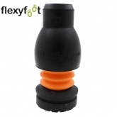 22mm FLEXYFOOT Black Ferrules Ideal For Aluminium Crutches & Walking Sticks