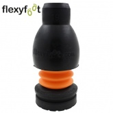19mm FLEXYFOOT Black Ferrules Ideal For Aluminium Crutches & Walking Sticks