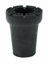 22mm Heavy Duty ''Shock Absorbing'' Rubber Ferrules For Walking Sticks, Canes & Crutches