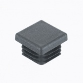19mm (¾'') Square GREY END CAPS Ribbed Inserts For Tubular Feet Push Fitting Ends