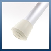 WHITE RUBBER FERRULES IDEAL FOR TABLE & CHAIR LEGS
