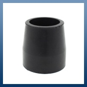 27mm BLACK FERRULES FOR FOLDING WALKING FRAMES