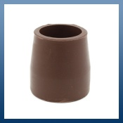 27mm BROWN FERRULES FOR FOLDING WALKING FRAMES