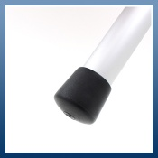 BLACK PLASTIC FERRULES IDEAL FOR TABLE & CHAIR LEGS
