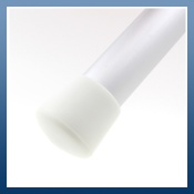 WHITE PLASTIC FERRULES IDEAL FOR TABLE & CHAIR LEGS