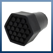 BLACK HEAVY DUTY CRUTCH TYPE RUBBER FERRULES