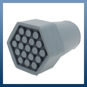 GREY HEAVY DUTY CRUTCH TYPE RUBBER FERRULES