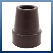 BROWN Z TYPE RUBBER FERRULES FOR WALKING STICKS