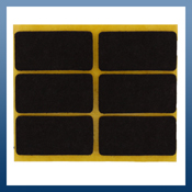 RECTANGULAR SELF ADHESIVE FELT PADS