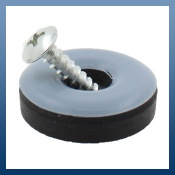 ROUND PTFE TEFLON SCREW ON GLIDES
