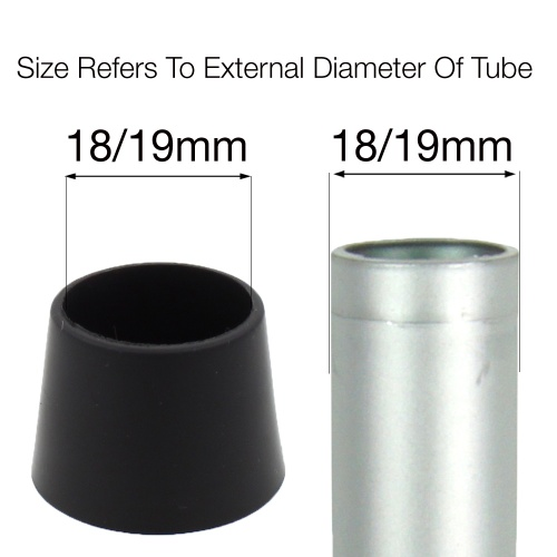 18/19mm PTFE TEFLON COATED FERRULES FOR CHAIR LEGS