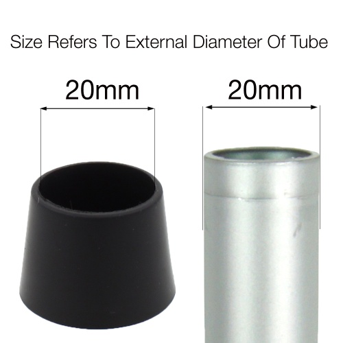 20mm PTFE TEFLON COATED FERRULES FOR CHAIR LEGS