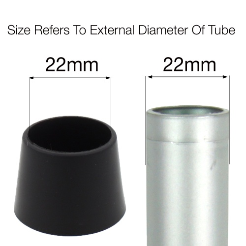 22mm PTFE TEFLON COATED FERRULES FOR CHAIR LEGS