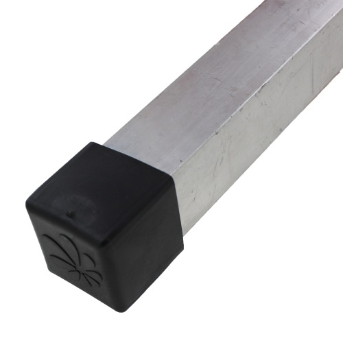 16mm Black Square Tube Ferrules For Table & Chair Legs & All Other Tubular Feet