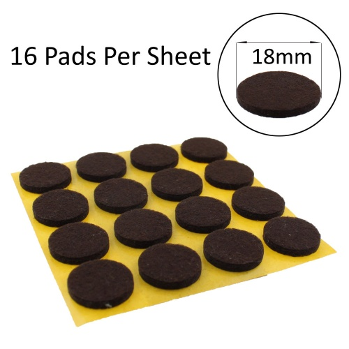 18mm Round Self Adhesive Felt Pads Ideal For Furniture & Also For Table & Chair Legs