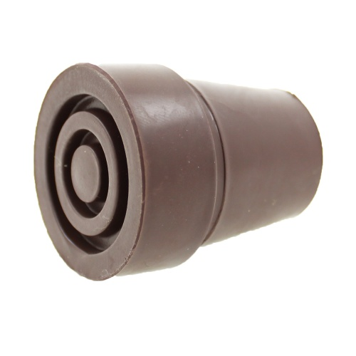 19mm (3/4'') Standard Brown Replacement Rubber Ferrules For Walking Sticks