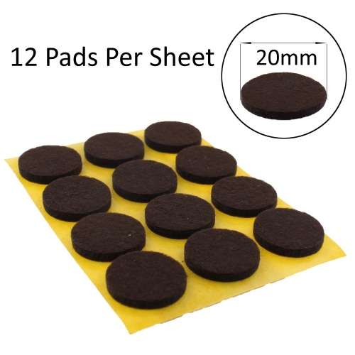 20mm Round Self Adhesive Felt Pads For, Rubber Pads For Furniture Legs
