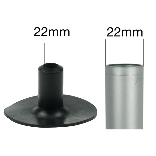 22mm (7/8'') <span style=''background-color: transparent;''>RUBBER FERRULES FOR WALKING STICKS TO PROTECT BOWLING GREEN LAWNS</span><br>