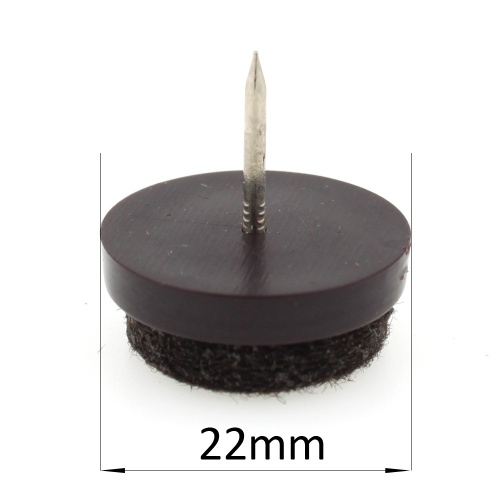 22mm Round Nail On Felt Pad Glides For Furniture & Table & Chair Legs