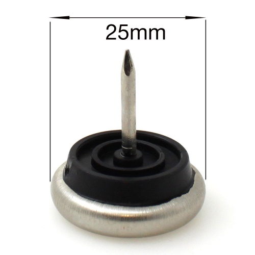 25mm NAIL ON METAL GLIDES FEET FOR CHAIR LEGS | PROTECT YOUR FLOOR