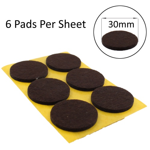 30mm Round Self Adhesive Felt Pads Ideal For Furniture & Also For Table & Chair Legs