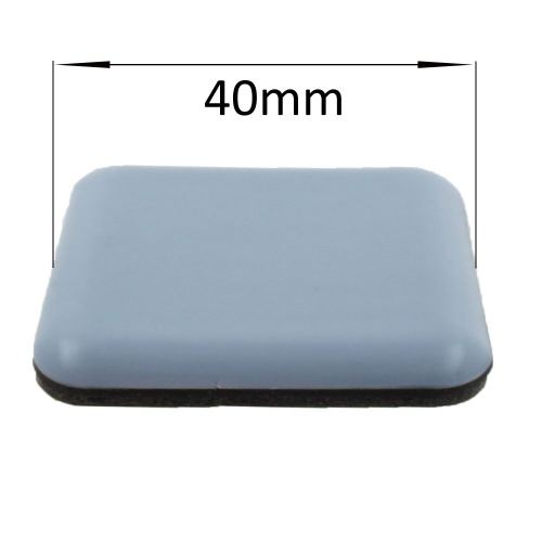 40mm Square PTFE Self Adhesive Glides