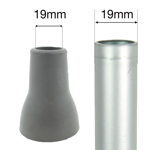 19mm STEPSAFE® RUBBER FERRULE FOR CRUTCHES | EXTRA LARGE & SAFE FOR CRUTCHES