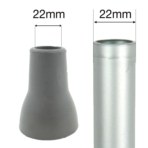 22mm STEPSAFE® RUBBER FERRULE FOR CRUTCHES | EXTRA LARGE & SAFE FOR CRUTCHES