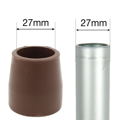 27mm (1 1/16'') RUBBER FERRULES FOR MOST FOLDING WALKING FRAMES