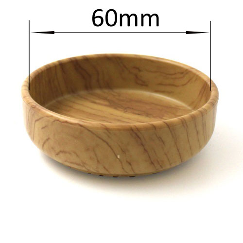 OAK EFFECT CASTER CUP WITH RUBBER BASE | PROTECT YOUR WOODEN FLOORS