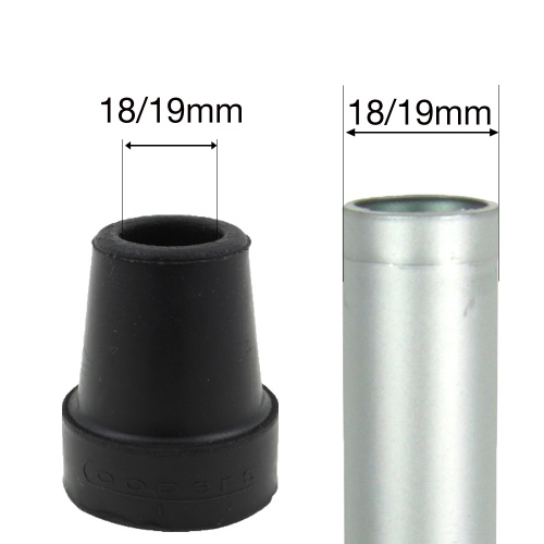 18 - 19mm (3/4'') COOPERS PREMIUM BLACK RUBBER FERRULES
