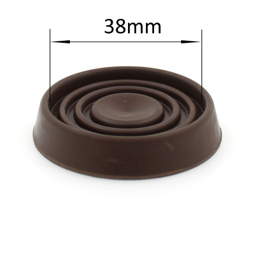 38mm BROWN ROUND RUBBER CASTER CUP | PROTECT YOUR FLOORING