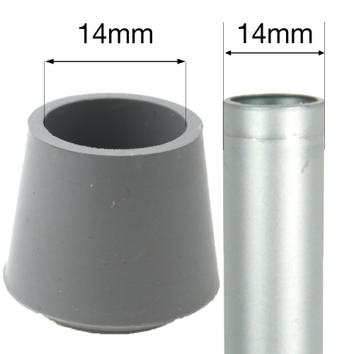 14mm MULTI PURPOSE RUBBER BOTTOMS FOR TABLE & CHAIR LEGS & ALL OTHER TUBULAR FEET