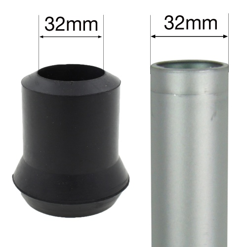 32mm (1 1/4'') RUBBER FERRULE TYPE D