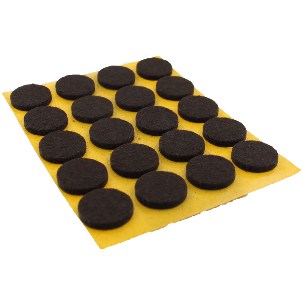 17mm Round Self Adhesive Felt Pads For Furniture Tables