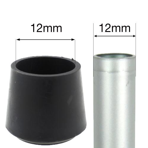 12mm Black Rubber Ferrules For Desks Tables Amp Chair Legs