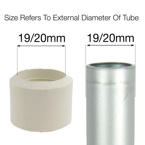 19 20mm White Rubber Ferrules For Desks Tables Amp Chair Legs