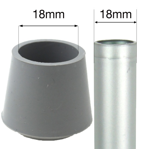 18mm Grey Rubber Ferrules For Desks Tables Amp Chair Legs