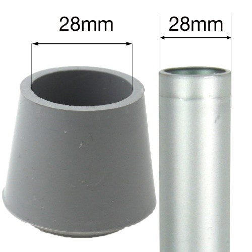 28mm Grey Rubber Ferrules For Desks Tables Amp Chair Legs