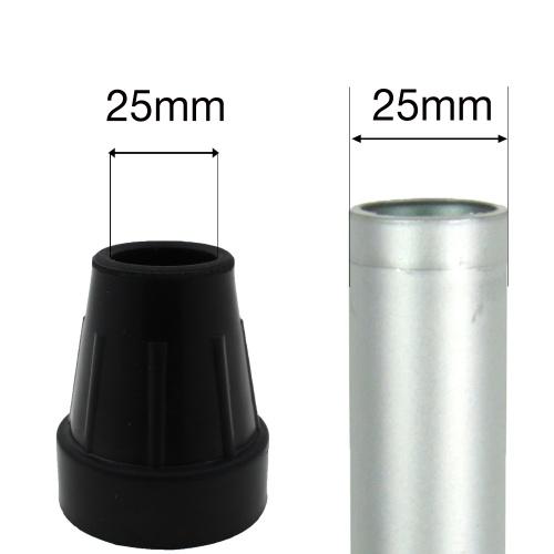 25mm 1 Quot Type Z Black Rubber Ferrules For Aluminium