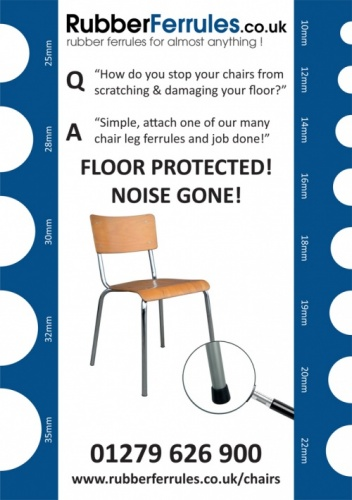 MEASURING GUIDE CARD ACCURATELY MEASURE DIAMETER OF CHAIR LEGS